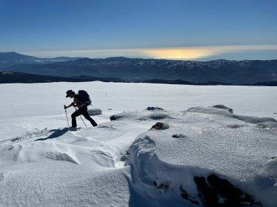 Travesía con raquetas de nieve a El Chullo y fotos