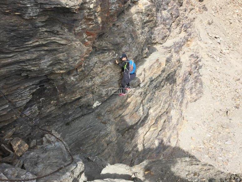 Studente di arrampicata