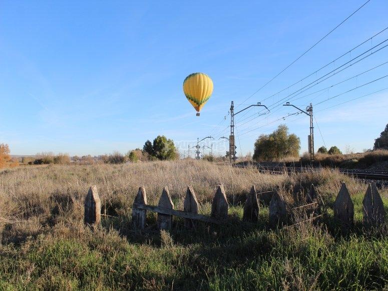 Hot air balloon in Aranjuez