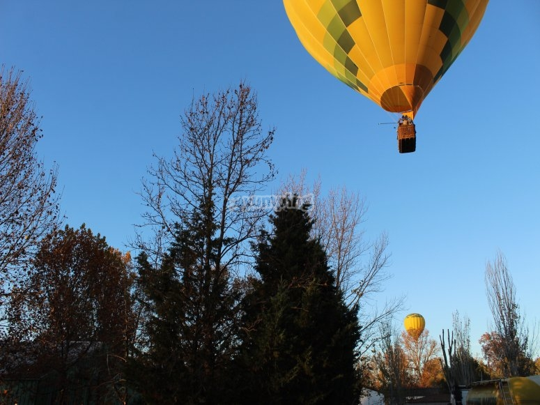 Balloon flight in Aranjuez