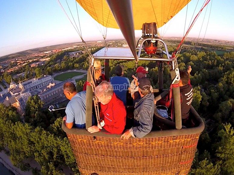 Aranjuez in balloon