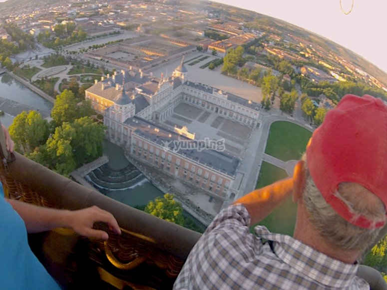 Views of Aranjuez from the balloon