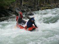 Descenso de canoas para team building