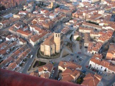 Vuelo en globo niños por muralla y sierra de Ávila