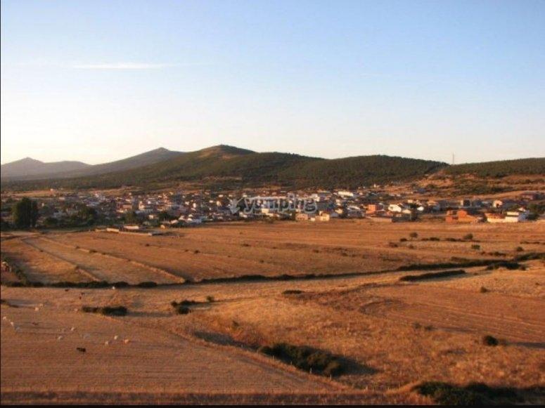Volando sobre la sierra de Salamanca en globo