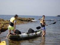 Taking the kayak offshore