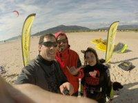 Con la alumna de kitesurf