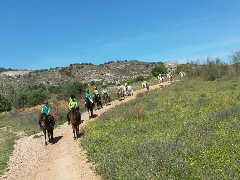 Enjoying a horseback ride