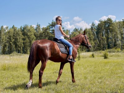 Horse riding route for couples in La Barrosa and picnic