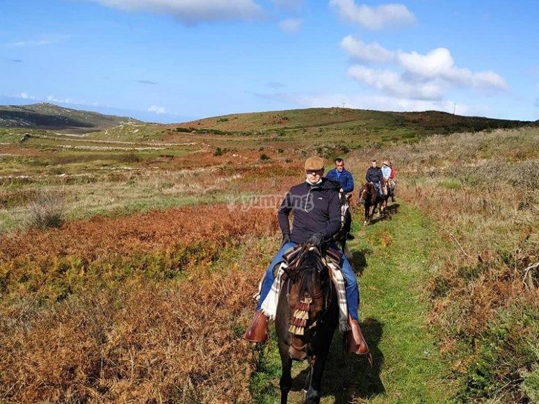 Excursión a caballo por el camino de Santiago