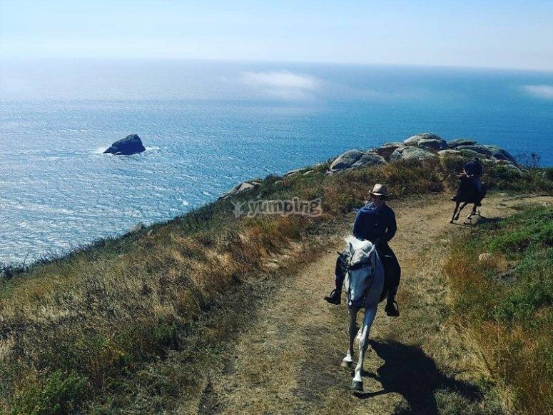 Ruta a caballo al Cabo de Finisterre