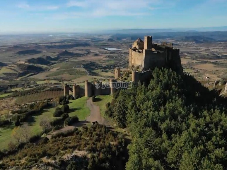 Panoramic of the castle of Loarre