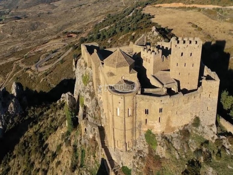 Castle of Loarre from the balloon