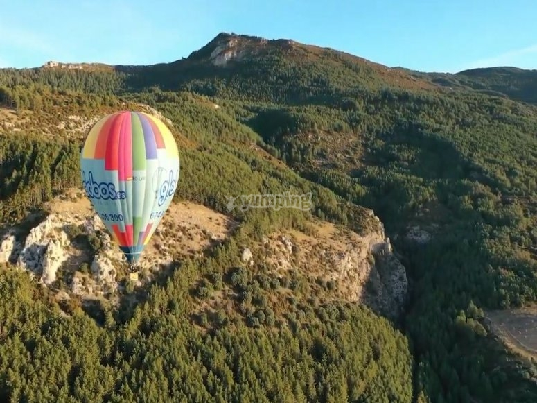 Flying over the Sierra de Huesca