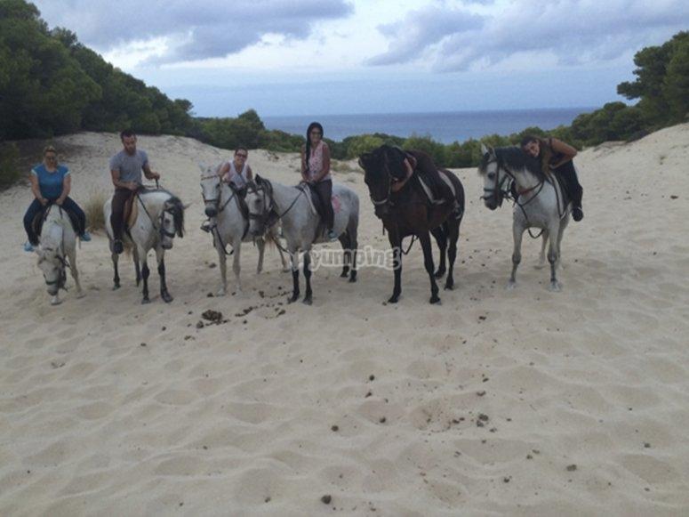 Ruta a caballo por Cala Mesquida