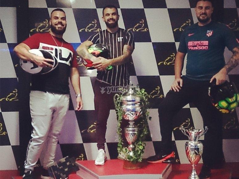 Vencedores del torneo de karting