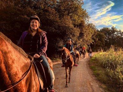 Ruta a caballo a pozas de Pla de l´Estany 2h
