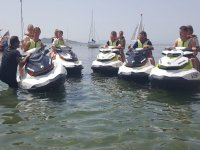 Helping in starting the jet ski