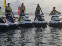Guys on the jet skis