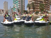 Group of jet skis in La Manga