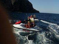 Piloting a jet ski in Murcia