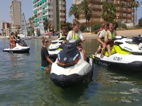 Prapared to drive a jet ski in Murcia