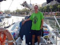 Posando a bordo del barco
