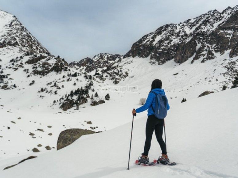 Snowshoeing route to Puerto de la Morcuera
