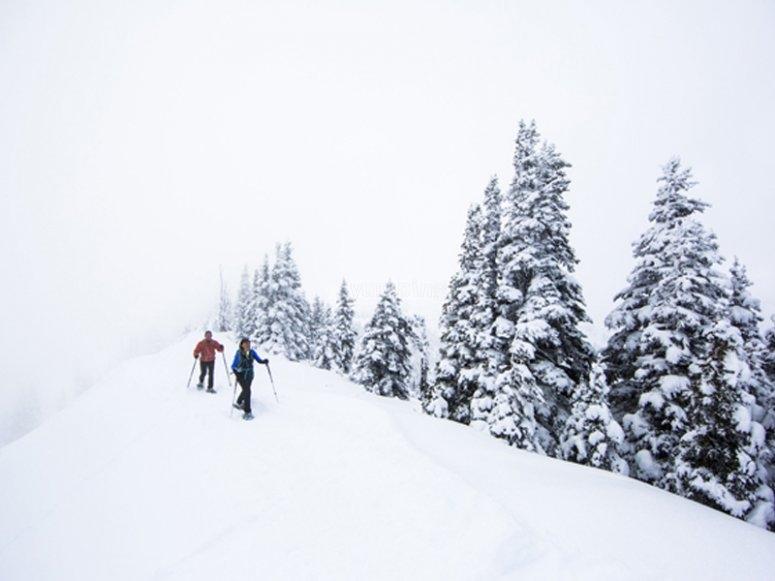 Enjoying a snowshoe outing