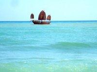 Junco Chino desde la playa