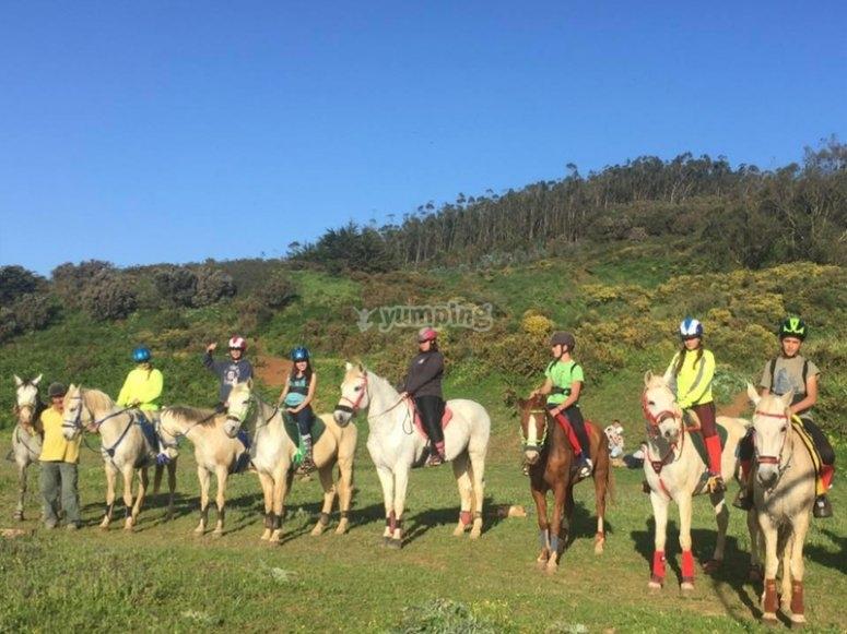 Horse riding through La Laguna