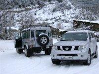 路线4x4在雪地里