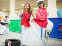 Carreras de sacos entre chicas