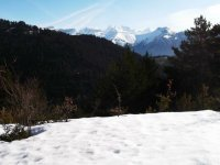 Vista de la montana nevada