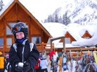 esquiando con los peques