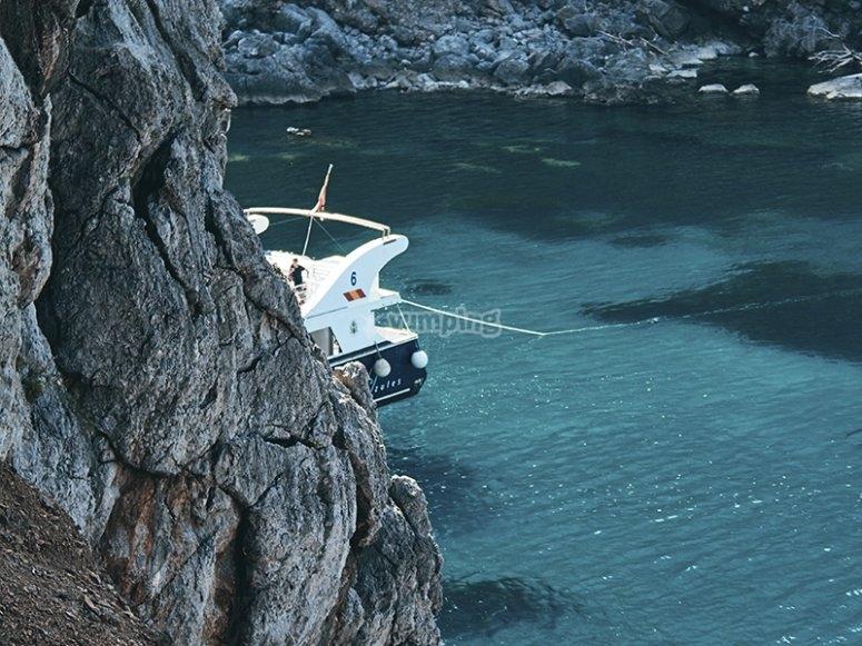 Boat trip to Cova Tallada