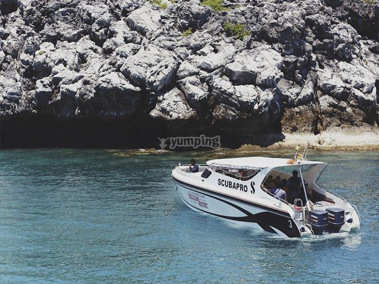 Boat route to Cabo de San Antonio