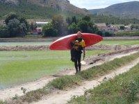 实践皮艇在穆尔西亚