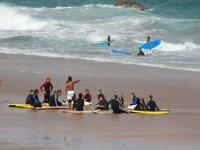Compartiendo momentos de surf