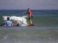 lezione di surf d'acqua