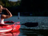 Guardando l'orizzonte dal kayak