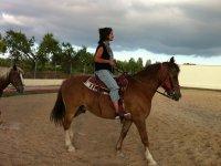 Montando sobre el caballo Texas