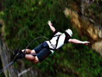 Enjoying a jump in bungee jumping