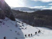Touring the snowy mountains