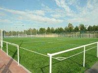 Campo de fútbol de césped