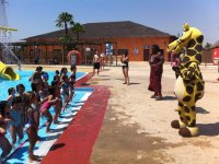Children's entertainment in the camp