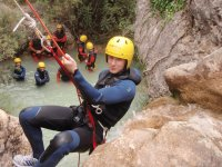 Canyoning with rappel