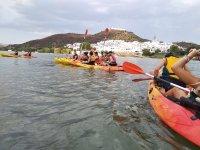 Vistas desde Portugal a Sanlúcar del Guadiana en los kayaks