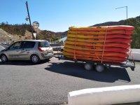 准备进行皮划艇路线