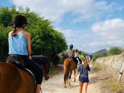 在拉萨拉(La Xara)骑马2小时